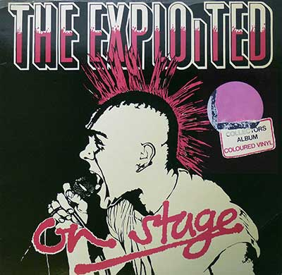"Thumbnail of THE EXPLOITED - On Stage Red Coloured Vinyl 12"" Vinyl Album  album front cover"