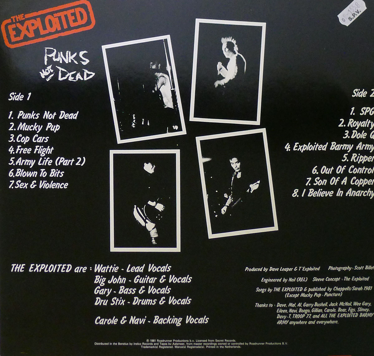 The Exploited Punk S Not Dead Uk Punk Album Gallery Information Vinylrecords