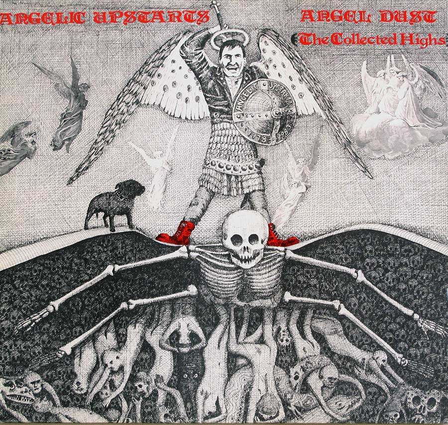 large photo of the album front cover of: angelic upstarts angel dust collected highs 1978-1983