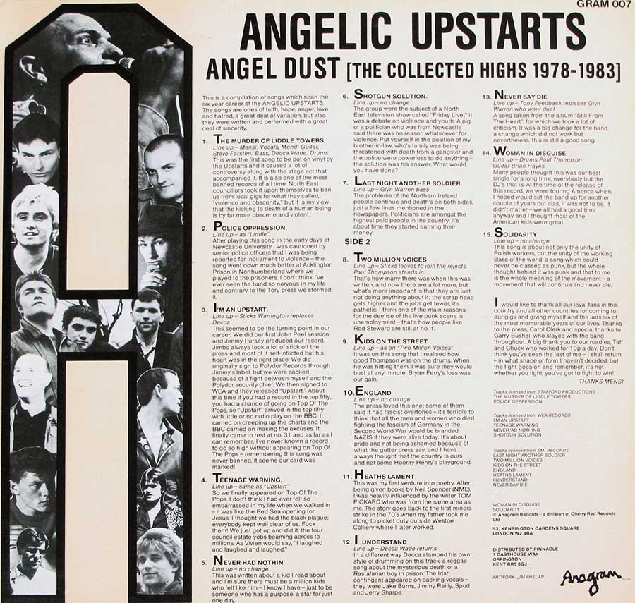 High Resolution Photo #11 angelic upstarts angel dust collected highs 1978-1983