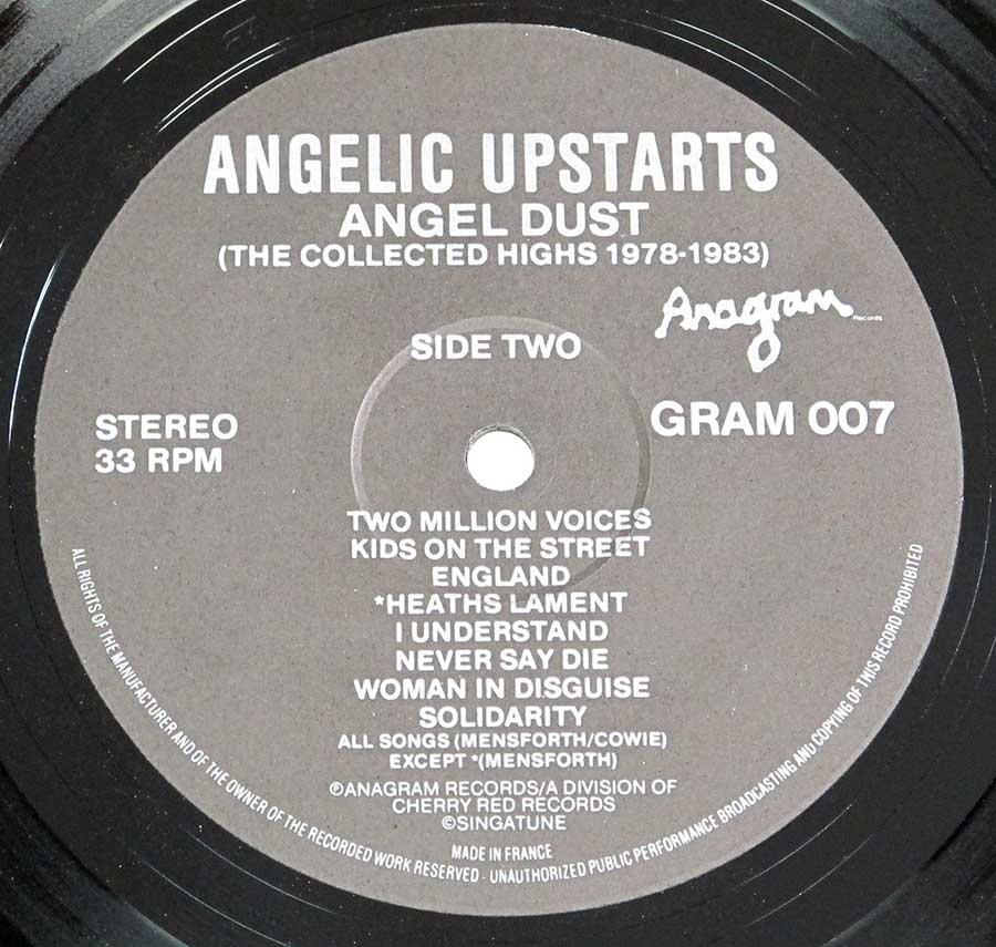 High Resolution Photo #13 angelic upstarts angel dust collected highs 1978-1983