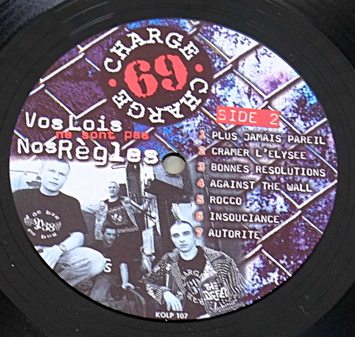 "High Quality Photo of Record Label  ""CHARGE 69 - Vos Lois Ne Sont Pas Nos Regles"