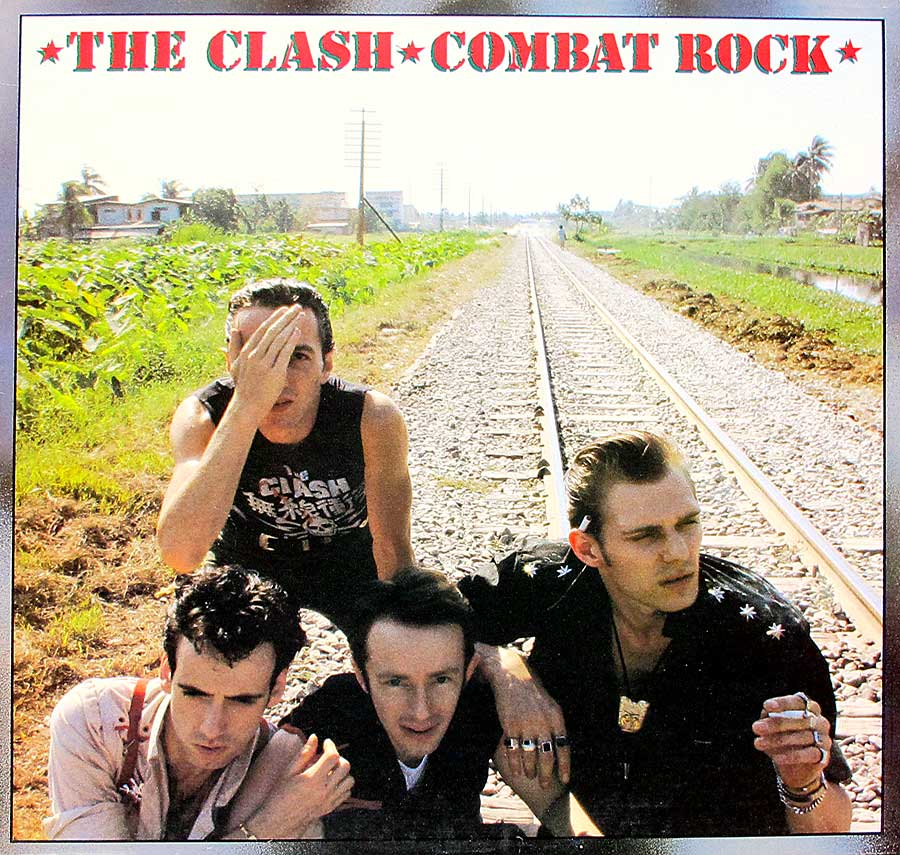 "THE CLASH - Combat Rock 12"" Vinyl LP Album front cover https://vinyl-records.nl"