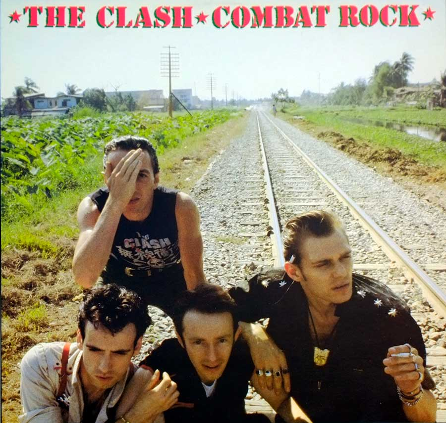 "THE CLASH - Combat Rock Netherlands Release OIS + POSTER 12"" Vinyl LP Album front cover https://vinyl-records.nl"