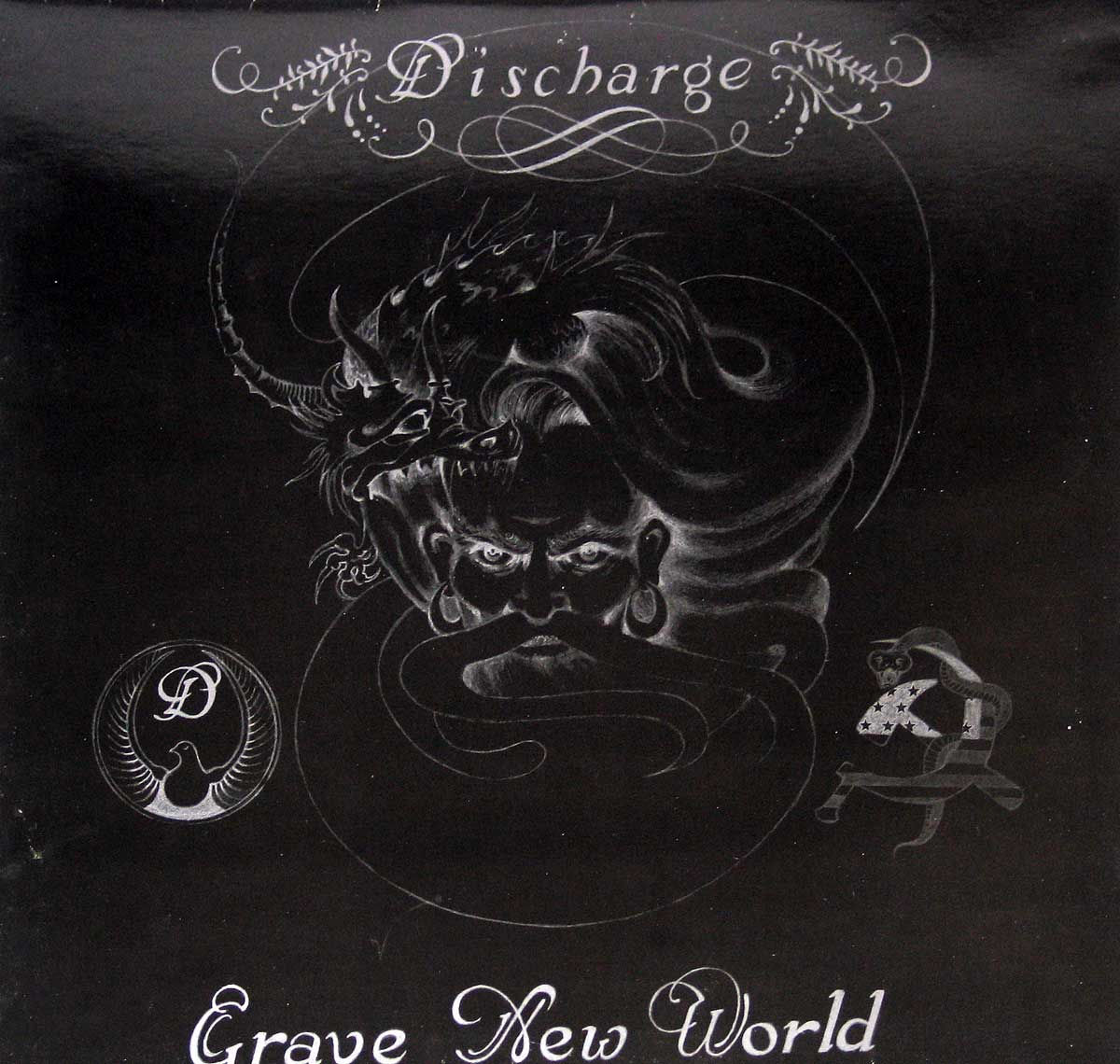large photo of the album front cover of: DISCHARGE - Grave New World