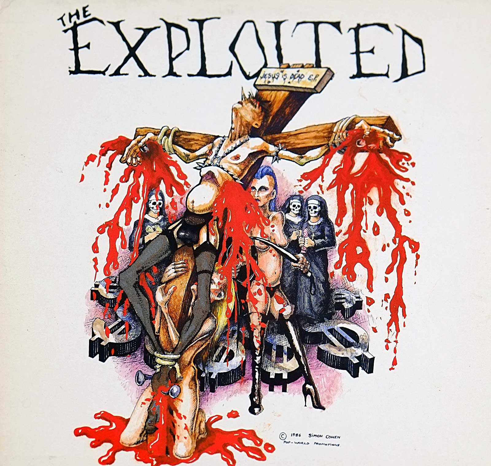 large photo of the album front cover of: EXPLOITED JESUS IS DEAD ROUGH JUSTICE