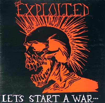 "Thumbnail of THE EXPLOITED - Let's Start A War 12"" Vinyl Album album front cover"
