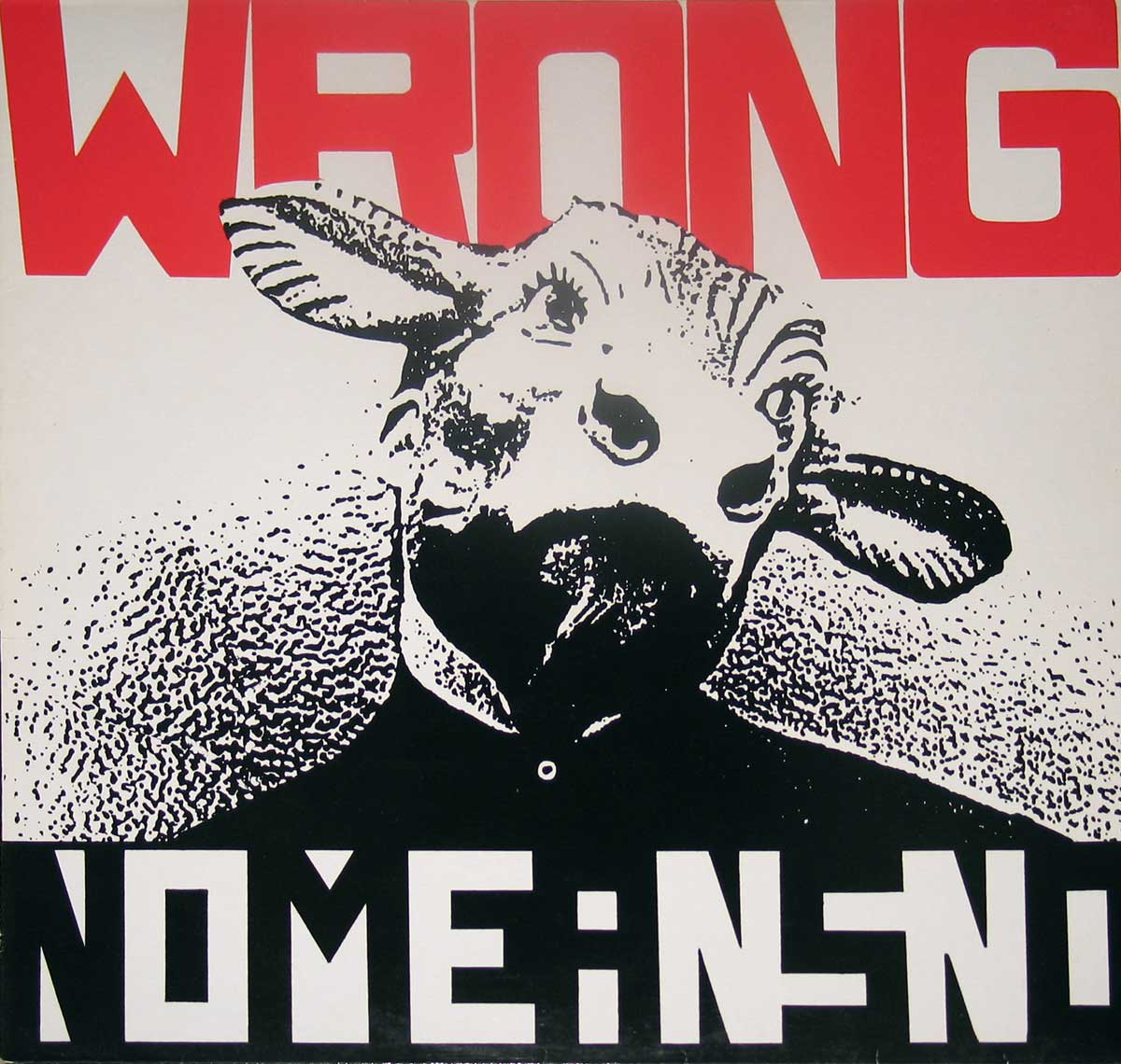 "Album Front Cover of NOMEANSNO Wrong Only Sheep Need a Leader 12"" Vinyl LP"