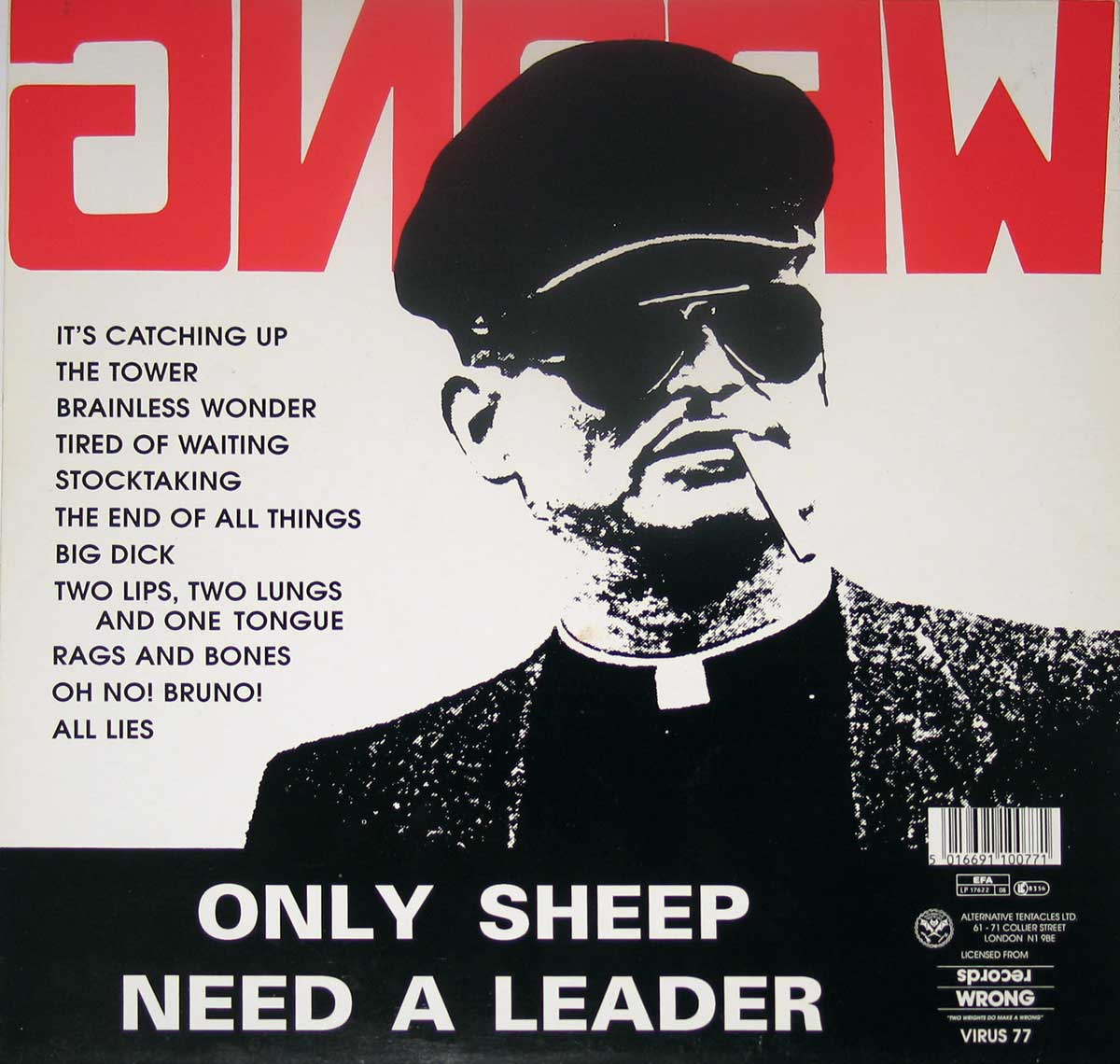 "NOMEANSNO Wrong Only Sheep Need a Leader 12"" Vinyl LP"
