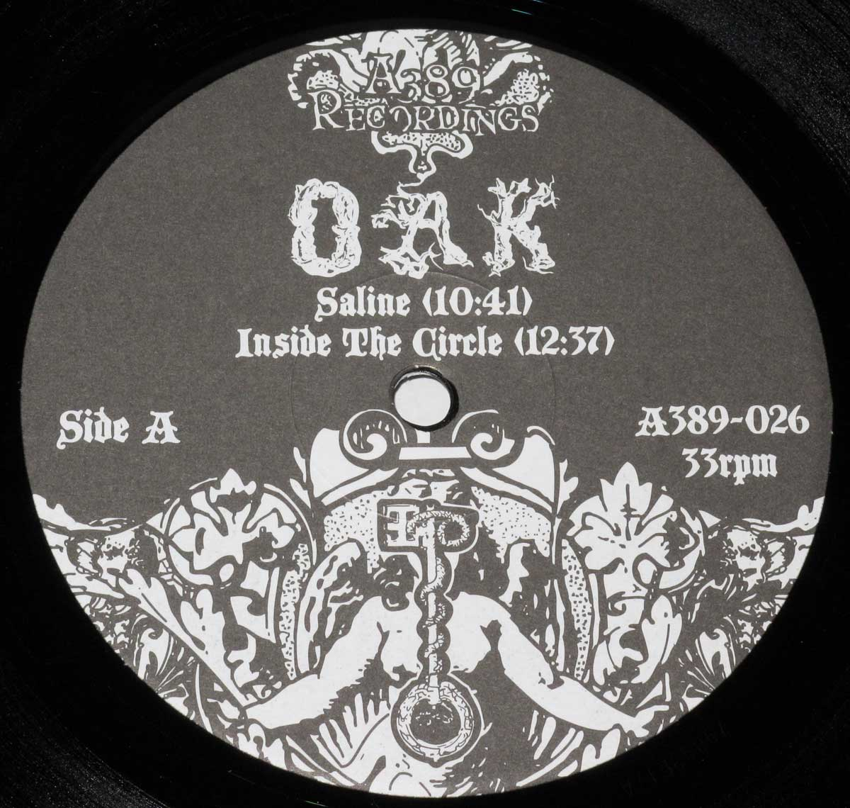"Large Hires Close-up Photo of ""Oak"" Record Label"