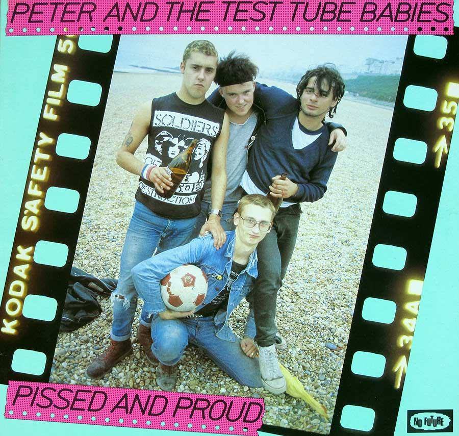"Front Cover Photo Of PETER AND THE TEST TUBE BABIES - Pissed And Proud 12"" LP Vinyl Album"