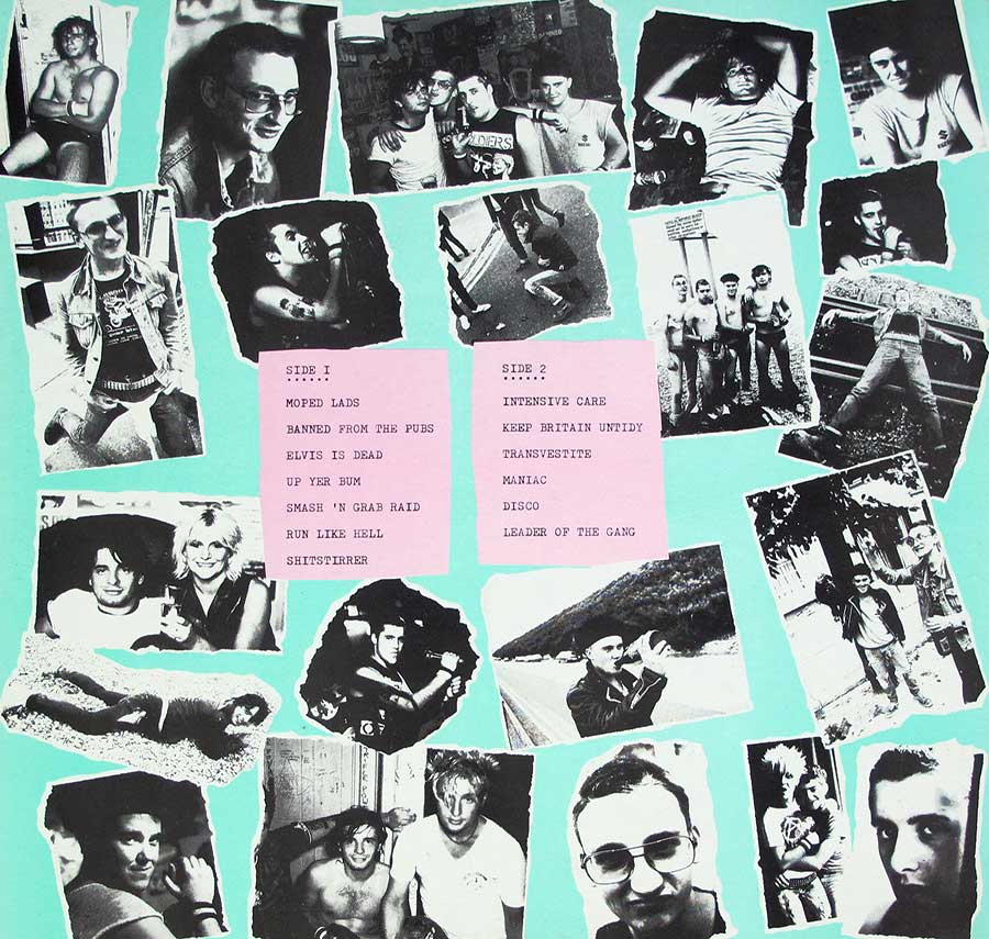 "Photo of album back cover PETER AND THE TEST TUBE BABIES - Pissed And Proud 12"" LP Vinyl Album"