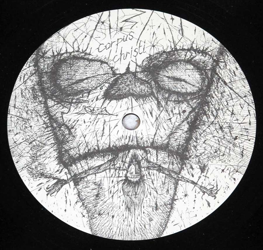"RUDIMENTARY PENI - Death Church Fold Out Paper Cover + Insert 12"" LP VINYL  enlarged record label"