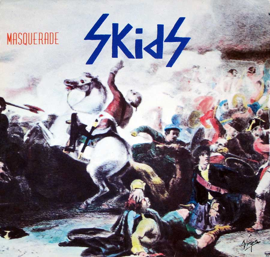 "Front Cover Photo Of SKIDS MASQUERADE / OUT OF TOWN 7"" 45RPM PS SINGLE VINYL"