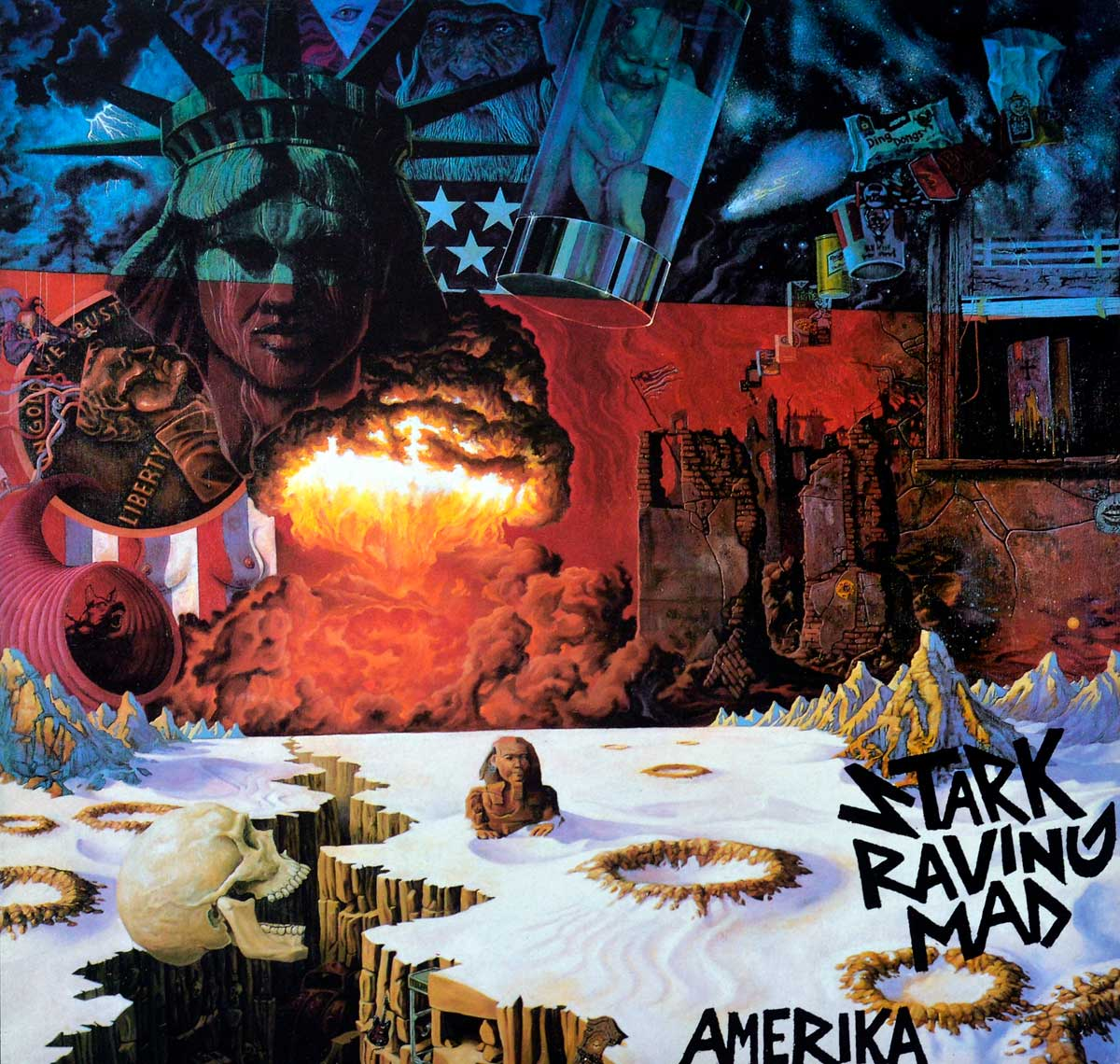 """Album Front Cover Photo of STARK RAVING MAD - Amerika 12"""" LP"""