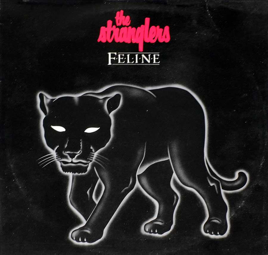 "STRANGLERS - Feline - Punk Rock, New Wave 12"" LP Vinyl Album front cover https://vinyl-records.nl"