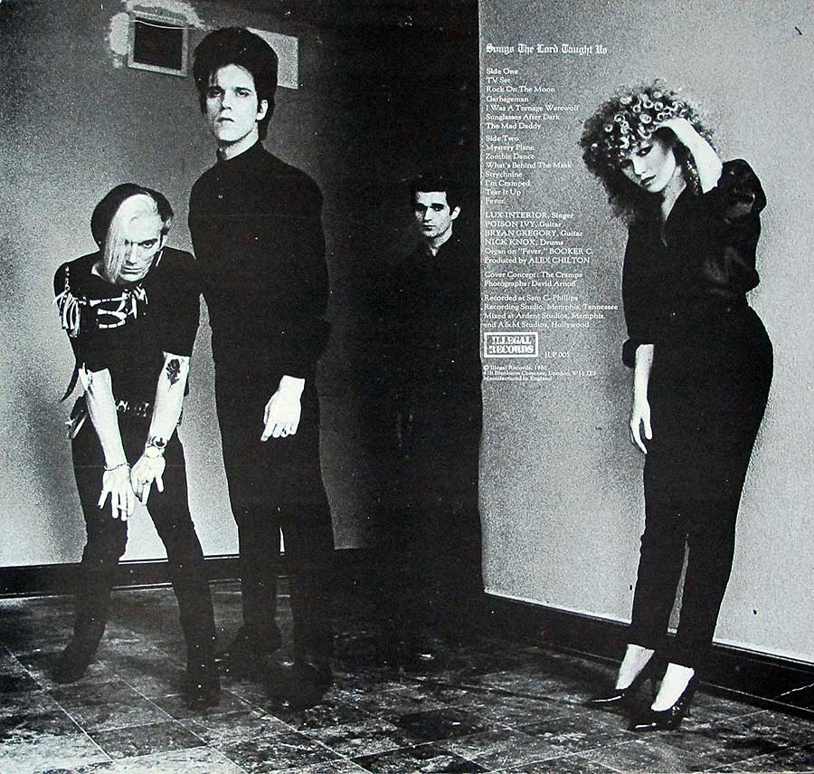"THE CRAMPS - Songs The Lords Taught Us Illegal ILP 005 12"" Vinyl LP Album   back cover"