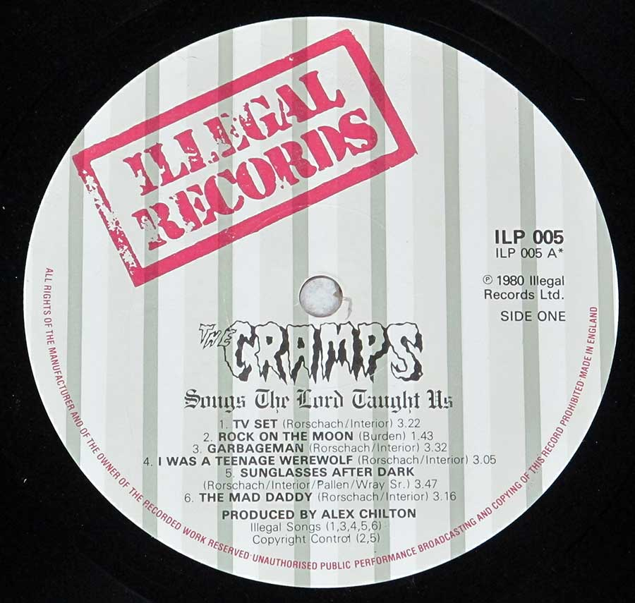 """Songs The Lords Taught Us"" Record Label Details: Illegal Records ILP 005 ℗ 1980 Illegal Records ltd Sound Copyright"