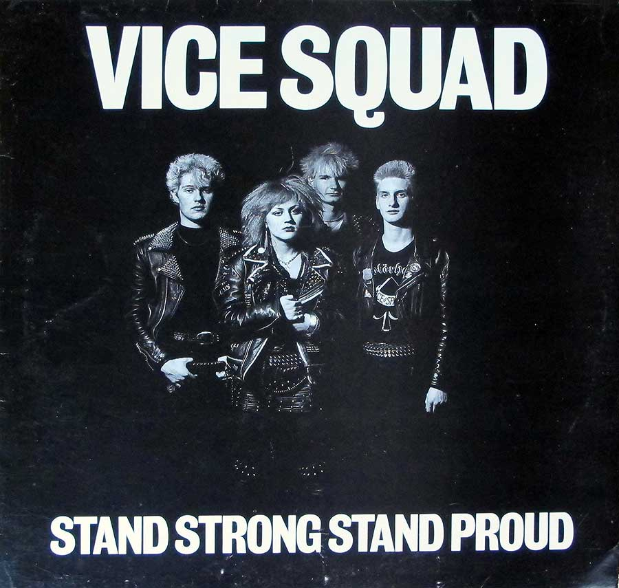 "VICE SQUAD  Stand Strong Stand Proud Orig Zem 12"" LP VINYL ALBUM  front cover https://vinyl-records.nl"