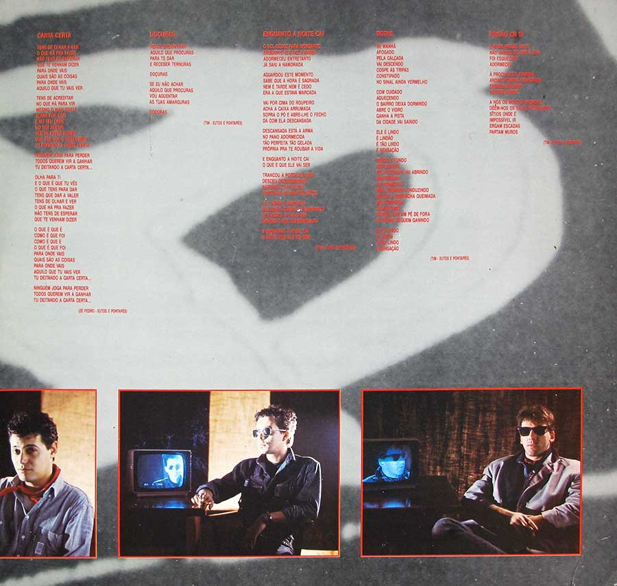 "Inner Sleeve   of ""XUTOS & PONTAPES - Album 88"" Album"