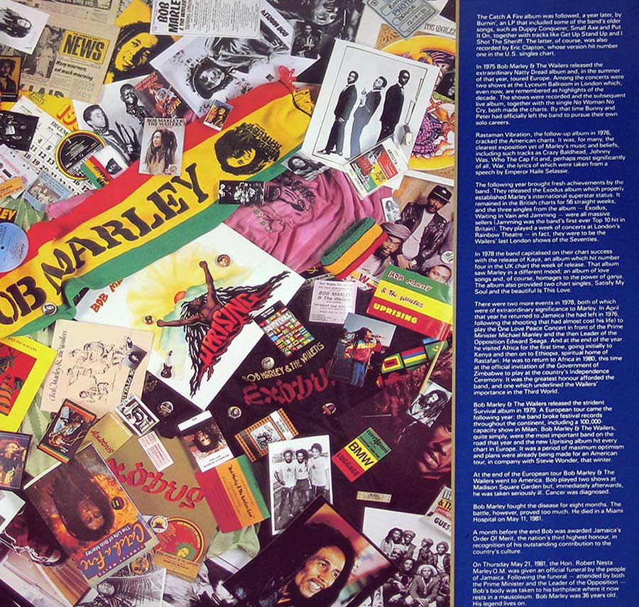 "BOB MARLEY - Legend Best Of Bob Marley And The Wailers ( EEC Release ) 12"" Vinyl LP Album  inner gatefold cover"