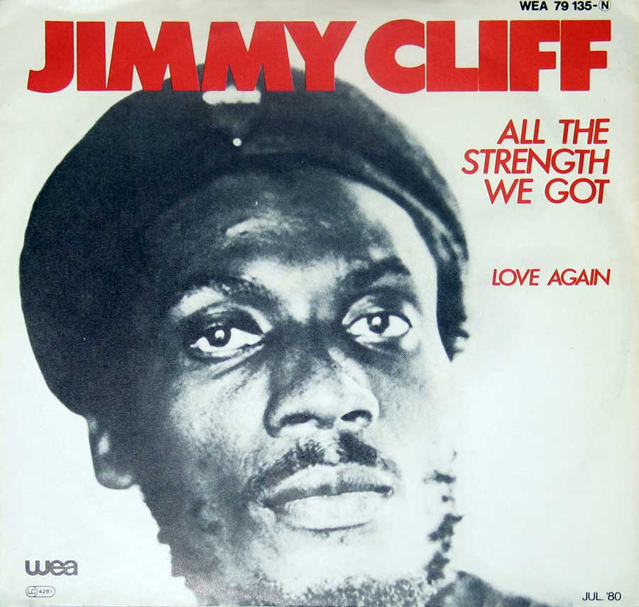 Large Hires Photo JIMMY CLIFF All The Strength We Got Picture Sleeve