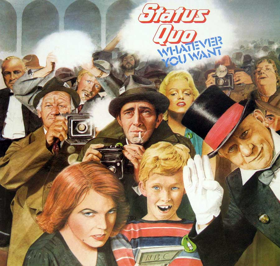 "large photo of the album front cover of: Status Quo Whatever You Want 12"" VINYL LP ALBUM<"