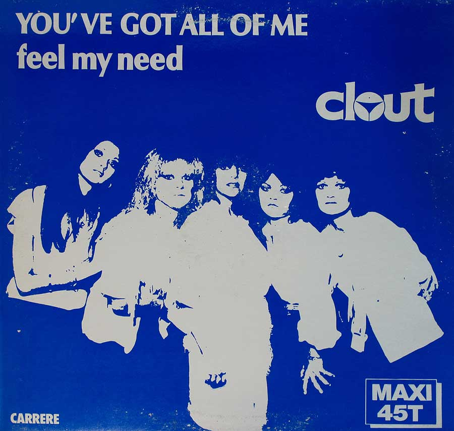 "CLOUT - You've Got All Of Me 12"" Vinyl Maxi-Single front cover https://vinyl-records.nl"