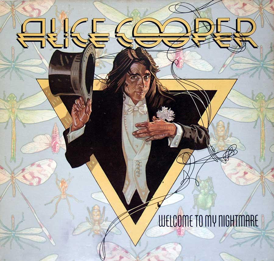 """ALICE COOPER - Welcome To My Nightmare 12"""" Vinyl LP Album  front cover https://vinyl-records.nl"""