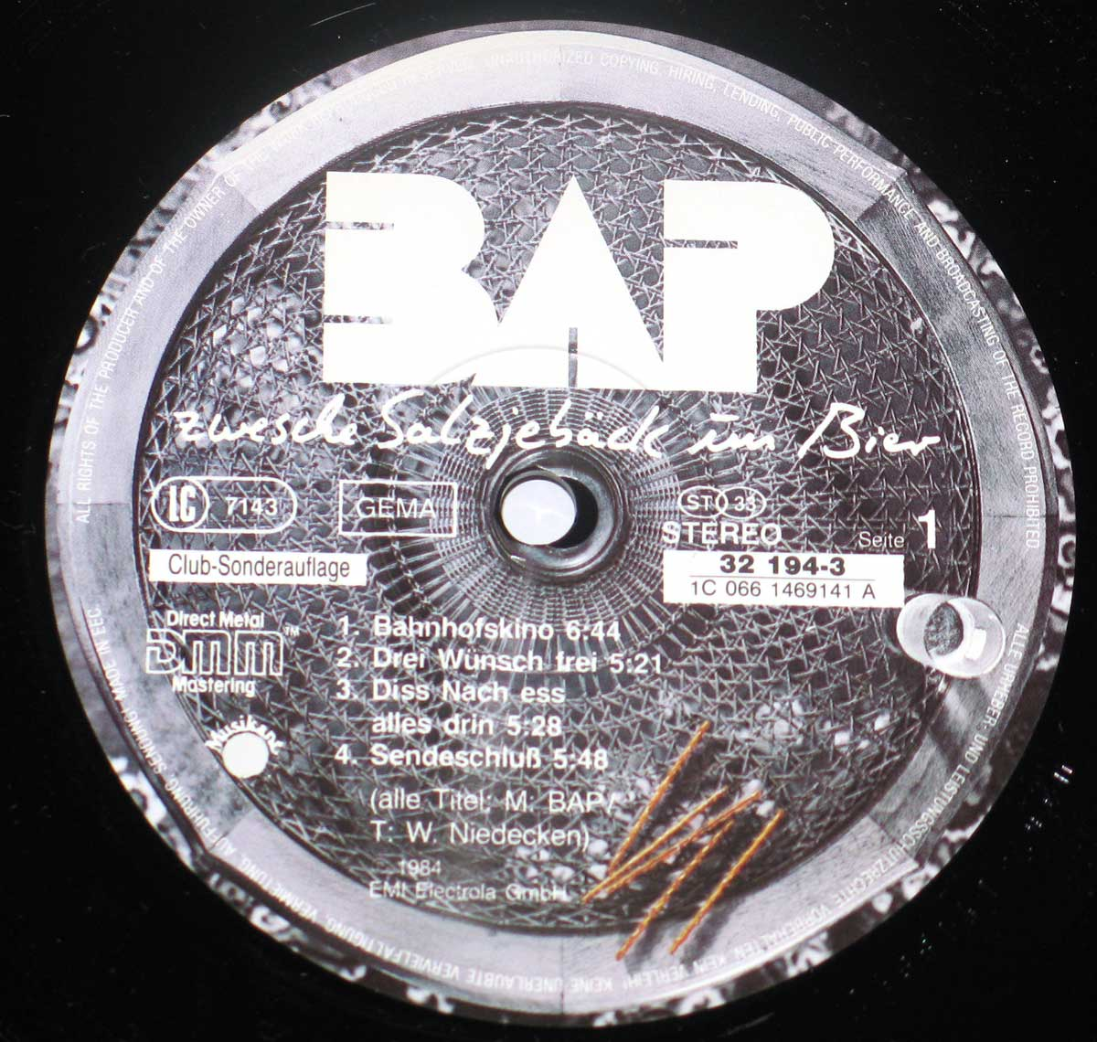High Resolution Photo BAP ZWESCHE SALZJEBÄCK Vinyl Record