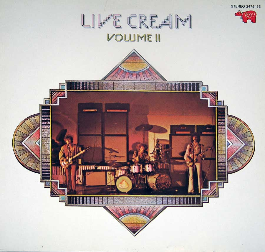 "CREAM - Live Cream Volume II With Eric Clapton RSO 12"" Vinyl LP Album front cover https://vinyl-records.nl"