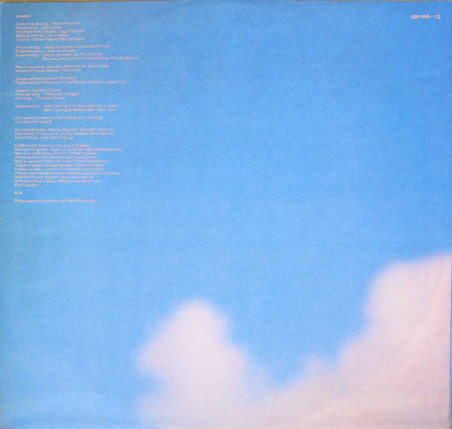 "DIRE STRAITS - Brothers in Arms West Germany 12"" VINYL LP ALBUM custom inner sleeve"