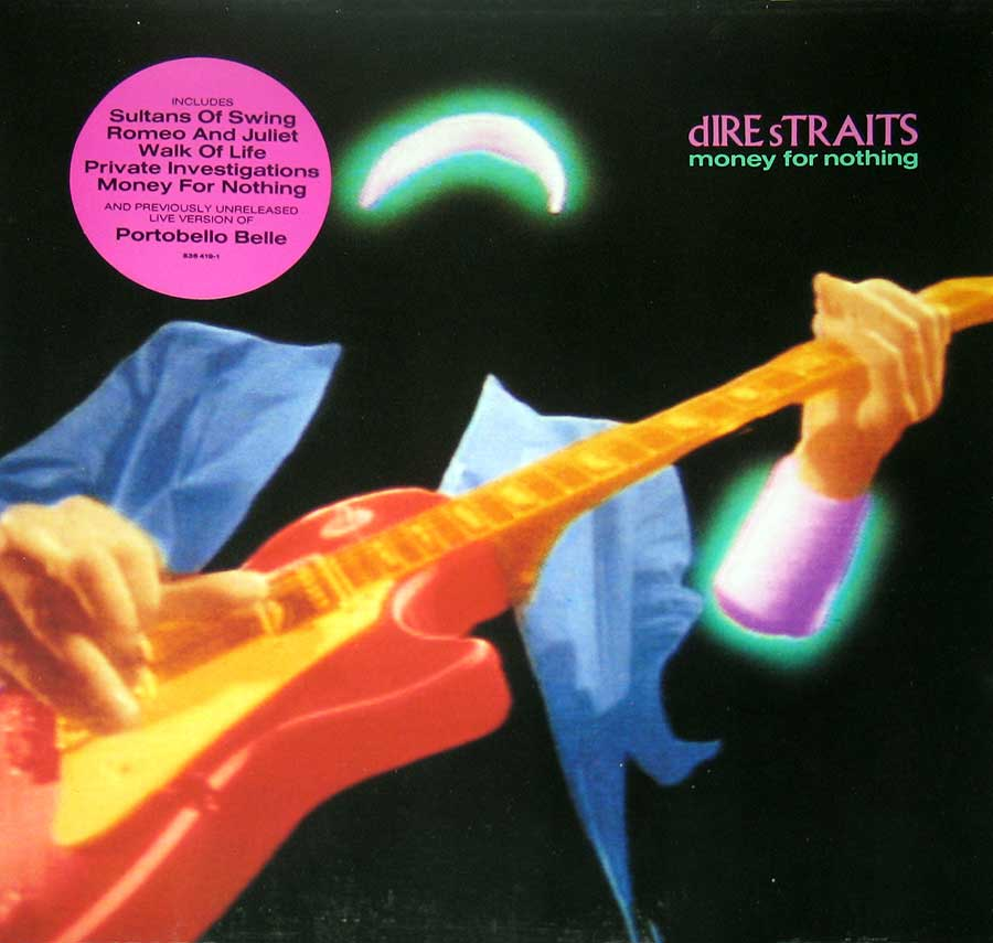 "DIRE STRAITS  Money for Nothing 12"" VINYL LP ALBUM  album front cover"