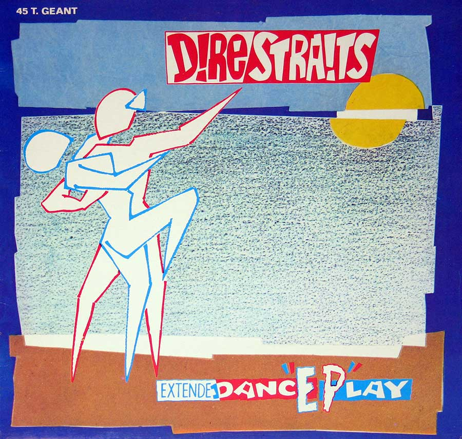 "DIRE STRAITS - Twisting By the Pool 12"" EP White Label Vertigo   front cover https://vinyl-records.nl"