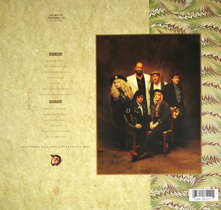 Photo of album back cover FLEETWOOD MAC - Behind The Mask