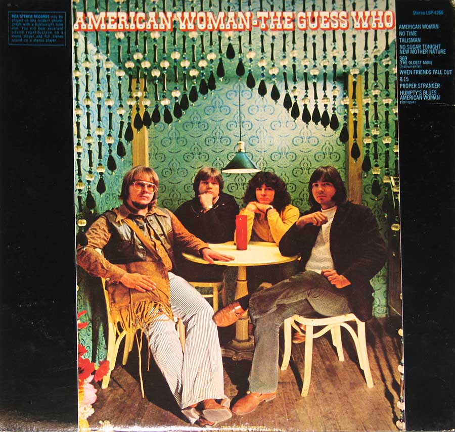 "GUESS WHO - American Woman, Gatefold Dynagroove 12""VINYL LP ALBUM  back cover"