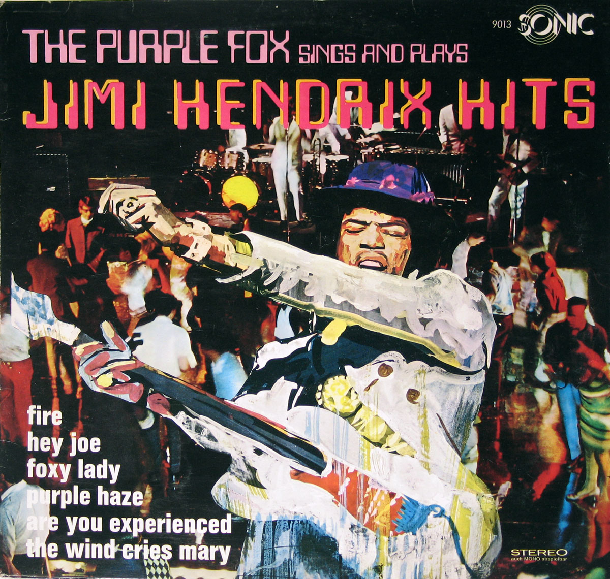 High Resolution Photo of purple fox jimi hendrix hits