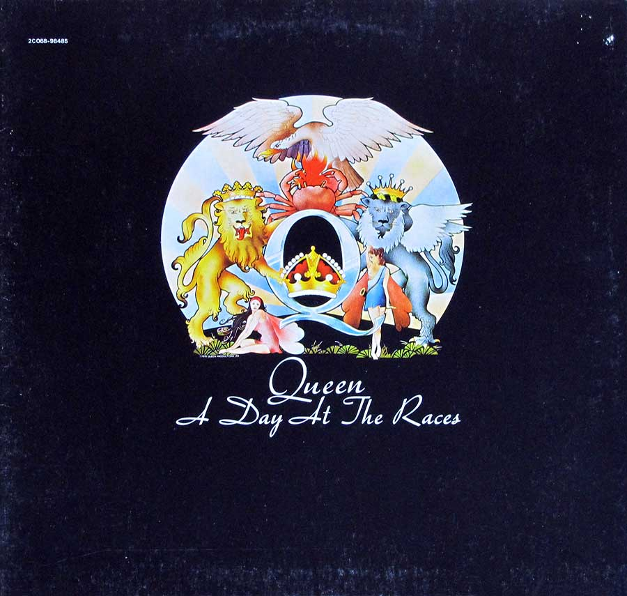 "QUEEN - Day At The Races French Release Gatefold 12"" LP Vinyl Album front cover https://vinyl-records.nl"