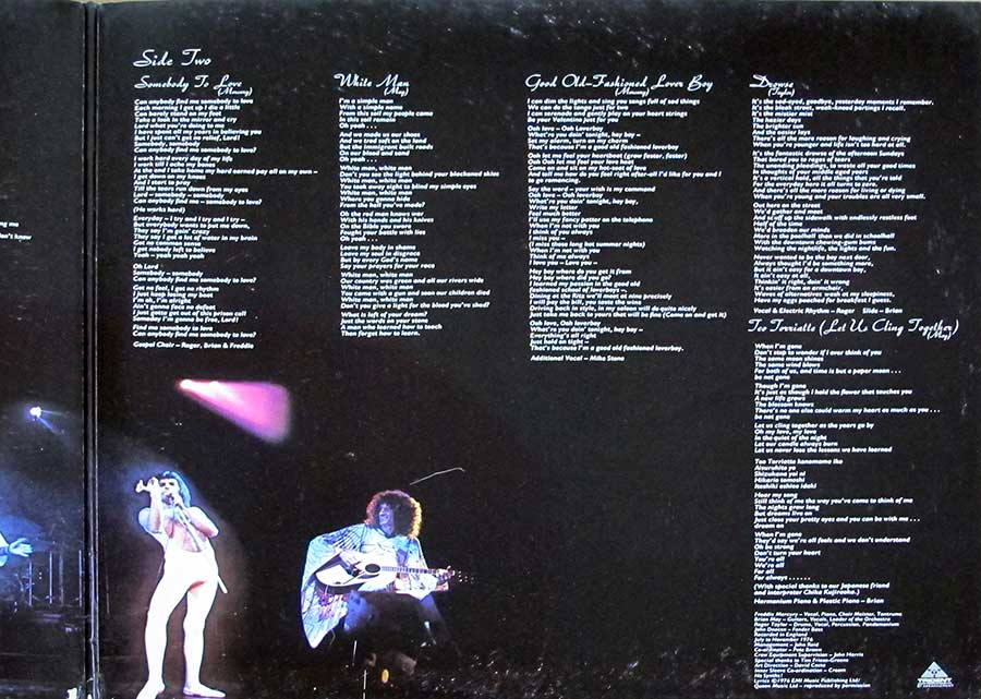 "QUEEN - Day At The Races French Release Gatefold 12"" LP Vinyl Album inner gatefold cover"