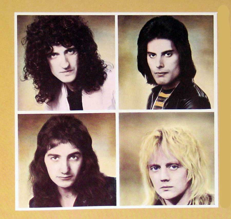 "QUEEN - A Day at the Races Gt Britain 12"" vinyl LP album  back cover"