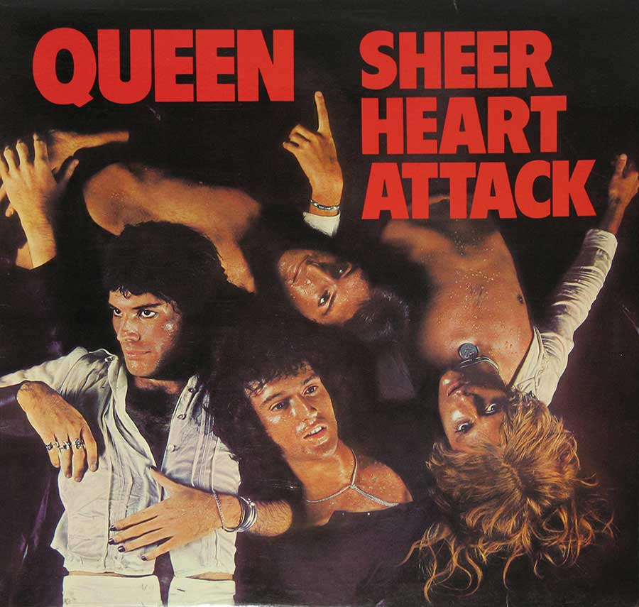 "QUEEN - Sheer Heart Attack Gt Britain Pressing 12"" Vinyl LP Album  front cover https://vinyl-records.nl"