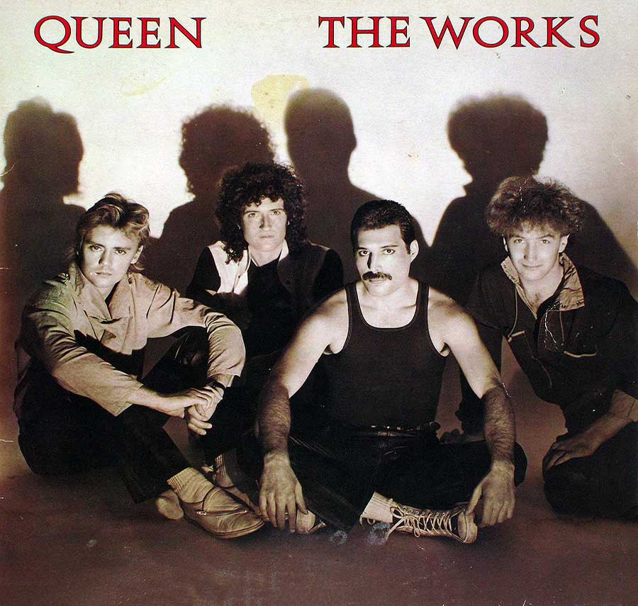 large photo of the album front cover of: QUEEN . Works