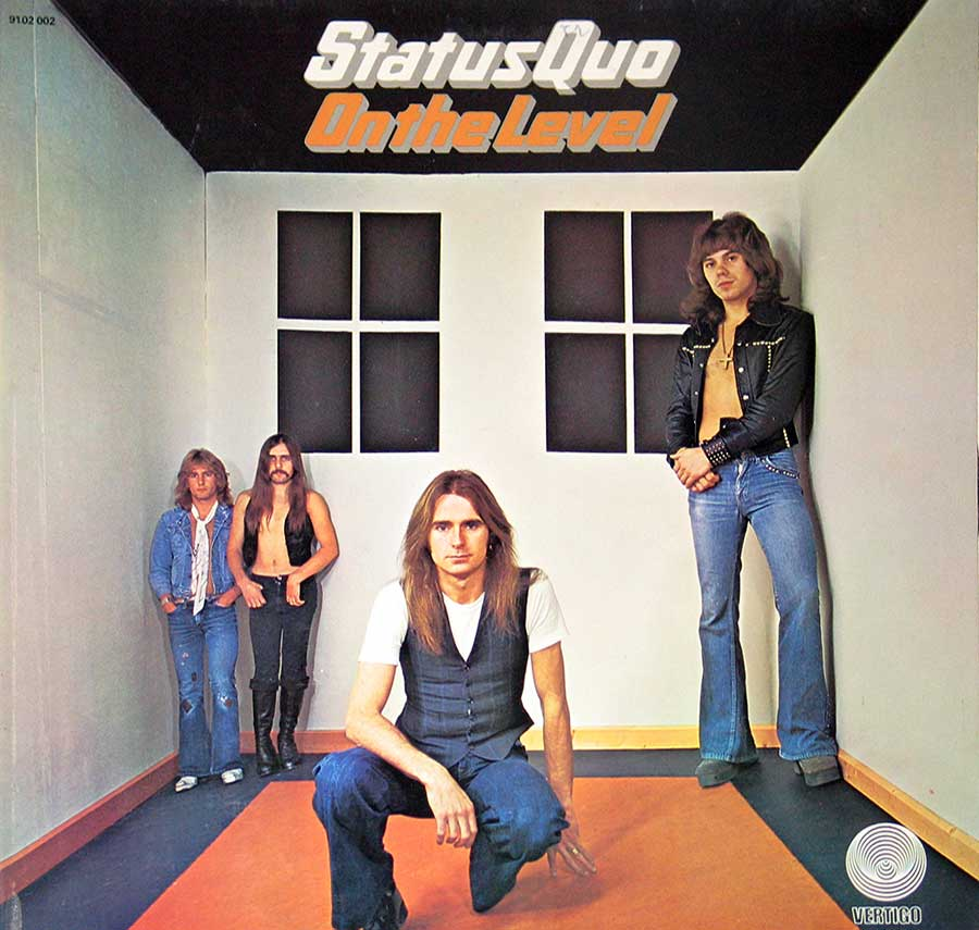"Front Cover Photo Of STATUS QUO - On the Level Vertigo France 12"" VINYL LP ALBUM"
