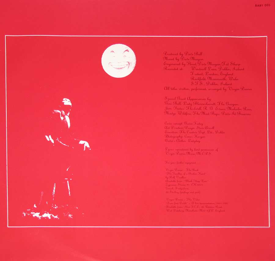"Photo One Of The Original Custom Inner Sleeve VIRGIN PRUNES - The Moon Looked Down And Laughed 12"" Vinyl LP Album"
