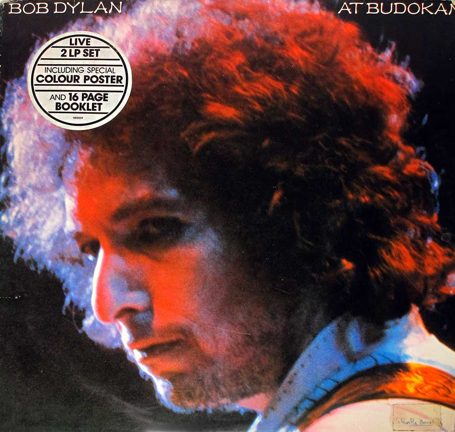 "Front Cover Photo Of BOB DYLAN At Budokan Live 2LP 12"" Vinyl LP Album"