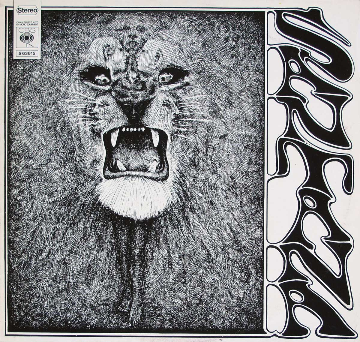 large photo of the album front cover of: Santana's debut album