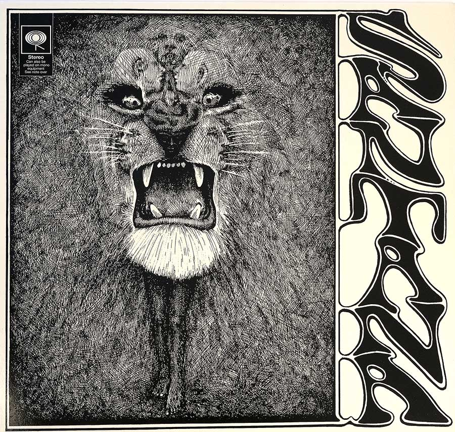 large photo of the album front cover of: Santana debut album