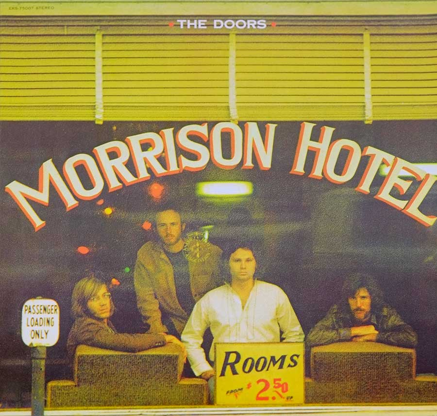 "Front Cover Photo Of DOORS MORRISON - Hotel Red Label Canada 12"" LP Vinyl"