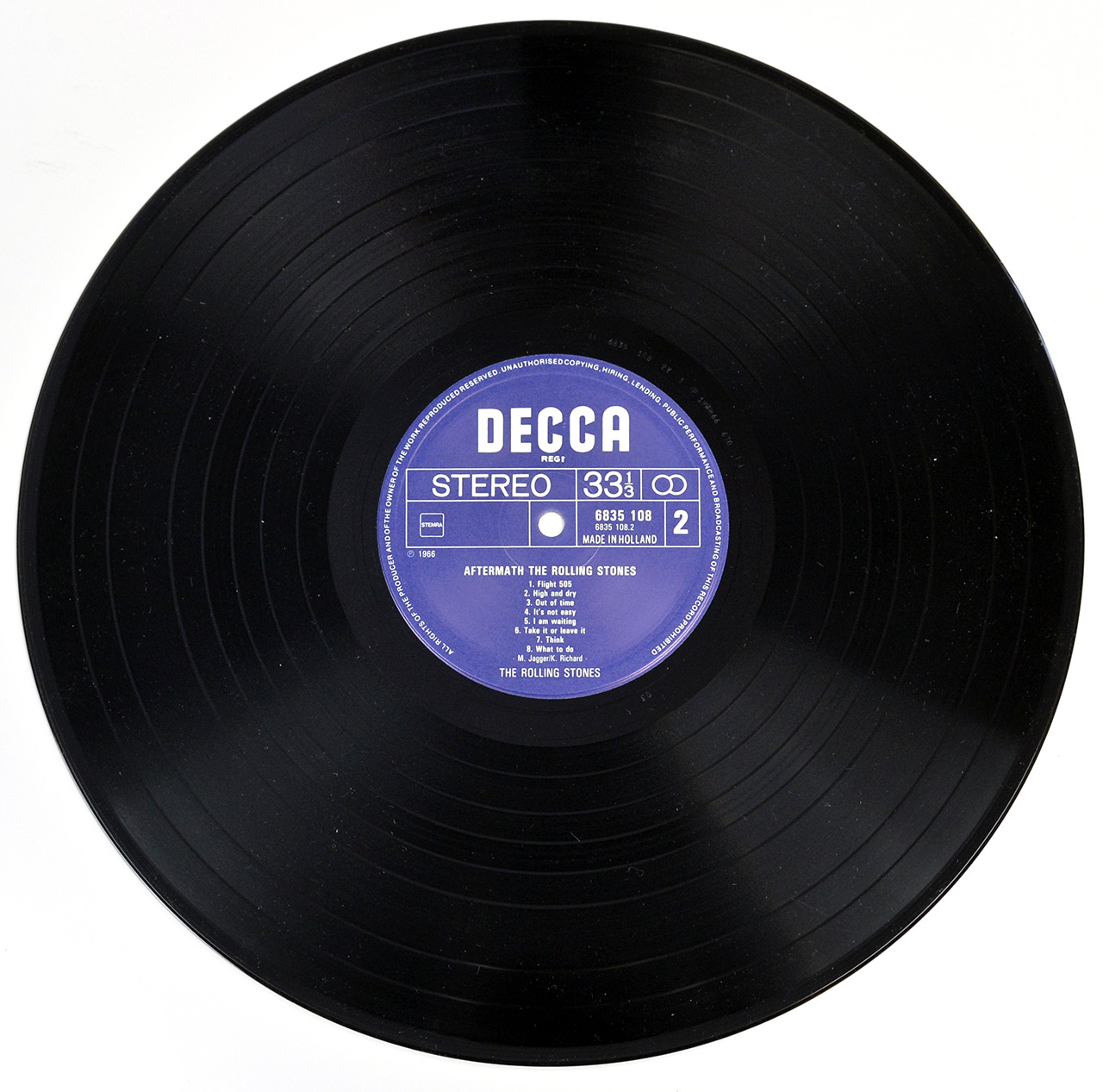 Photo of record 2   of ROLLING STONES - Aftermath DECCA NETHERLANDS