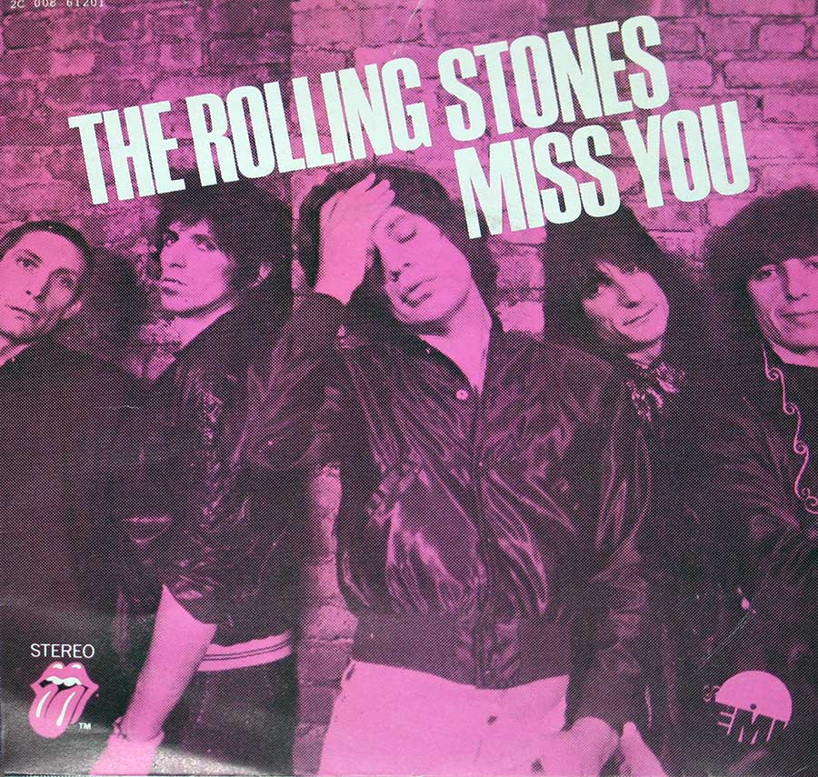 "large photo of the album front cover of: Rolling Stones Miss You / Far Away Eyes 7"" Single"
